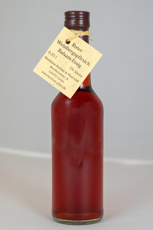 Roter Weinbergspfirsich-Balsamessig